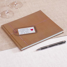 Just My Type Kraft Wedding Guest Book