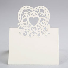 Double Heart Place Card - 10 Pack