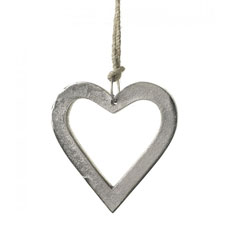 Aluminium Hanging Heart Outline