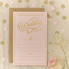 Pastel Pink Evening Invitations