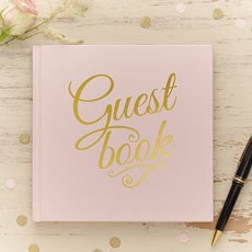 Pastel Pink Guest Book