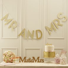 Pastel Perfection Mr and Mrs Sparkling Bunting