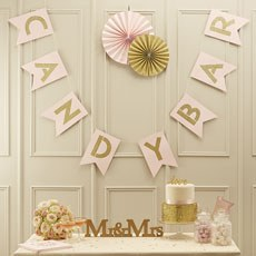 """Pastel Perfection """"Candy Bar"""" Flag Bunting"""