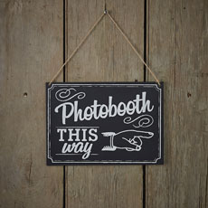 Vintage Affair Photo Booth Wooden Sign