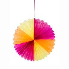 Tropical Hanging Fan Decoration