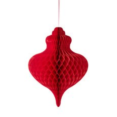 Giant Red Hanging Paper Honeycomb