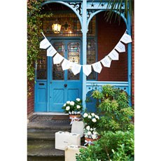 White and Silver 'Just Married' Bunting