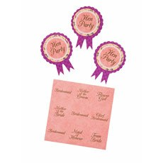 Floral Hen Party Badge Set