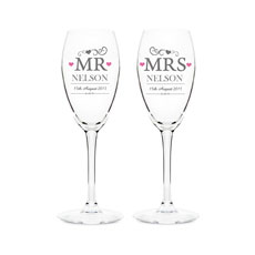 Personalized Mr & Mrs Flutes