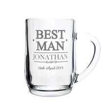 Personalized Best Man Tankard