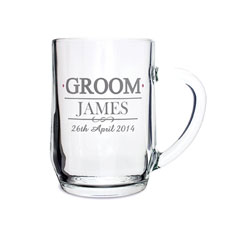 Personalized Groom Tankard