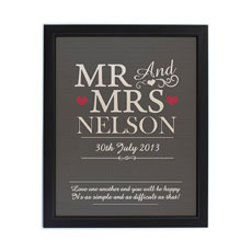 Personalized Mr & Mrs Framed Print
