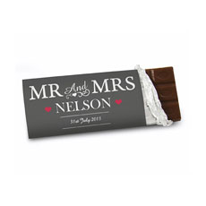 Personalized Mr & Mrs Chocolate Bar
