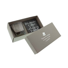 Usher Whiskey Glass and Coaster Gift Set