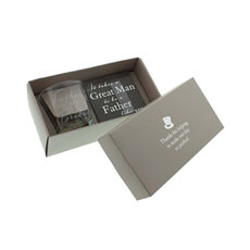 Father of the Bride Whiskey Glass and Coaster Gift Set