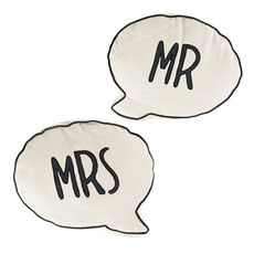 Mr & Mrs Cushion - Pair