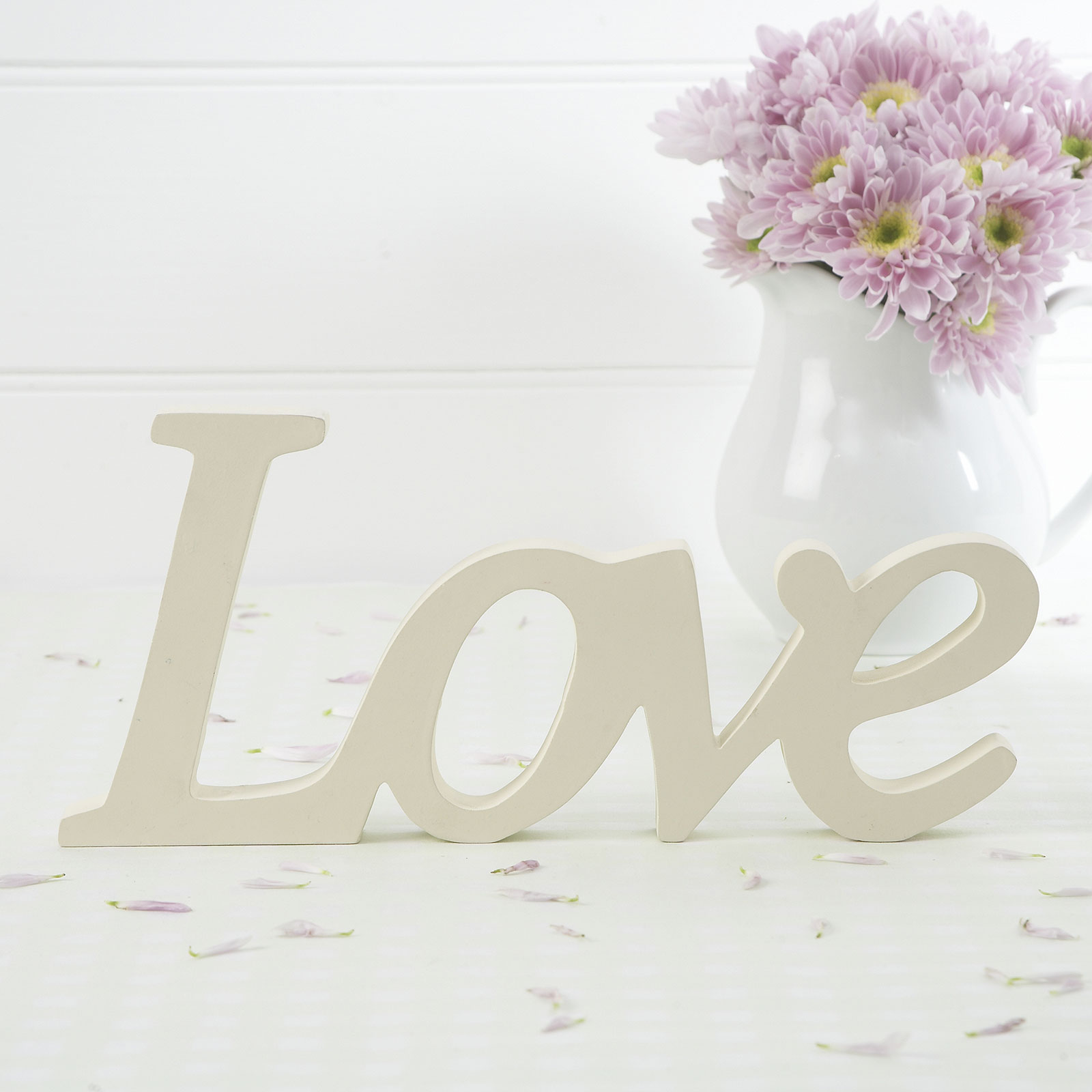 Ivory Wooden Love Sign