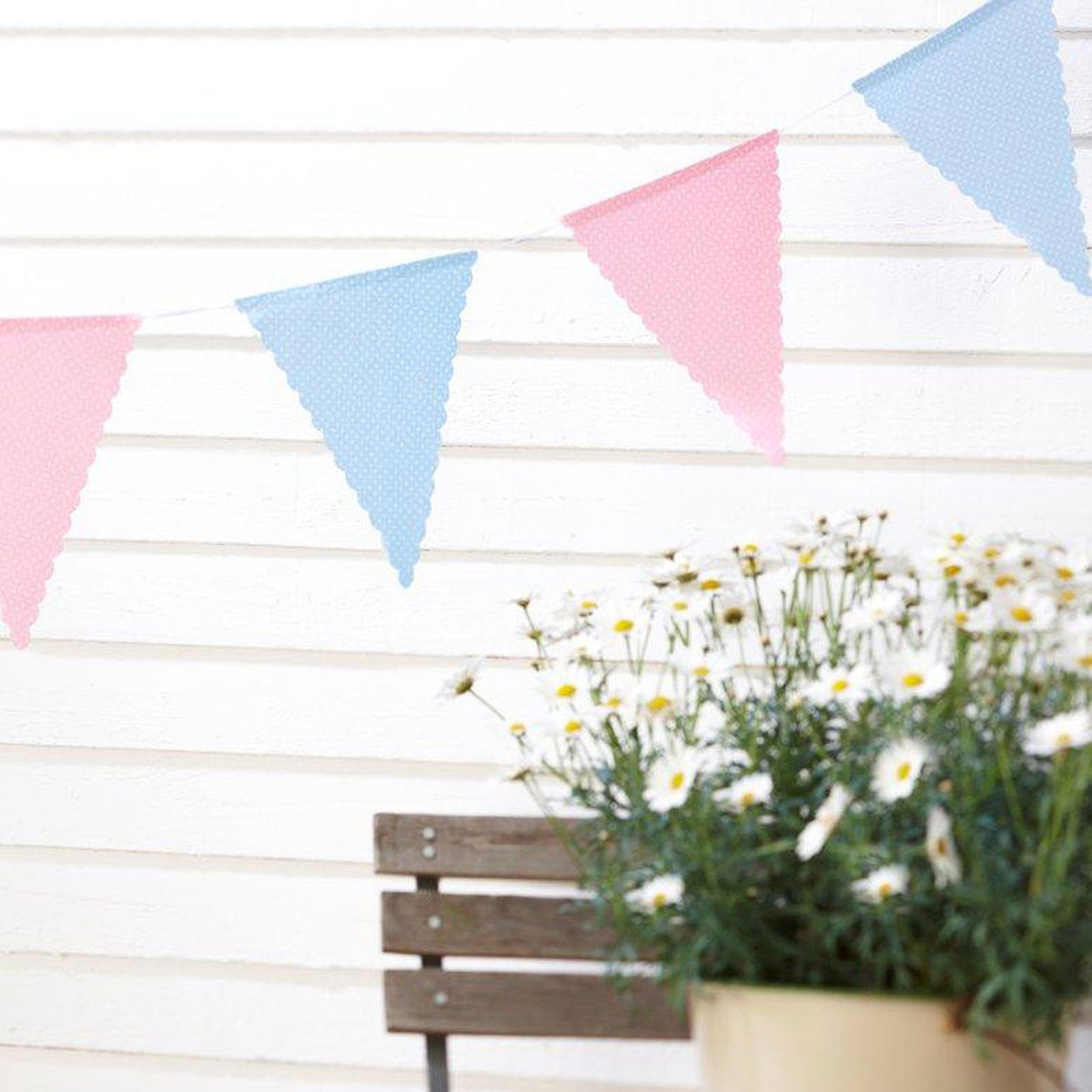 Vintage Rose Polka Dot Cotton Bunting