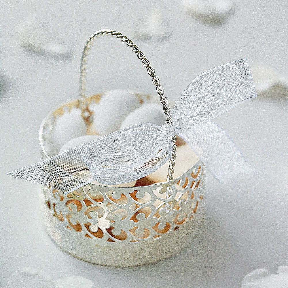 Metal Cut Out Favor Basket