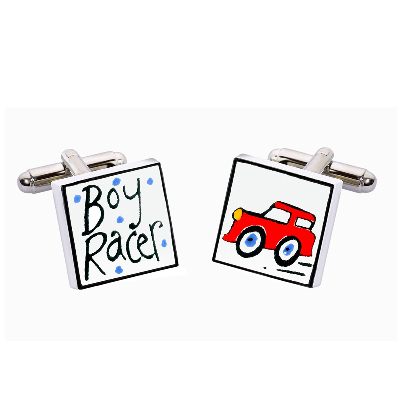 Boy Racer Ceramic Cufflinks