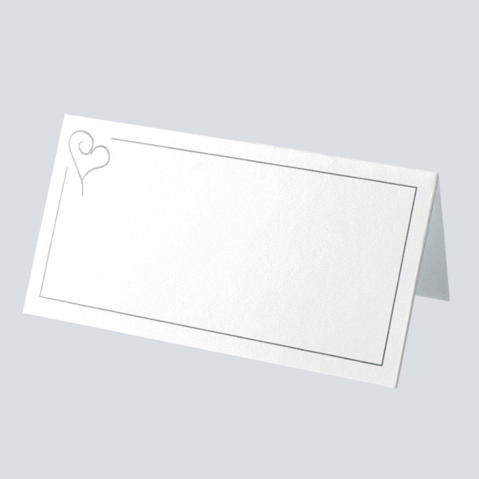 Swirl Heart Place Card Pack