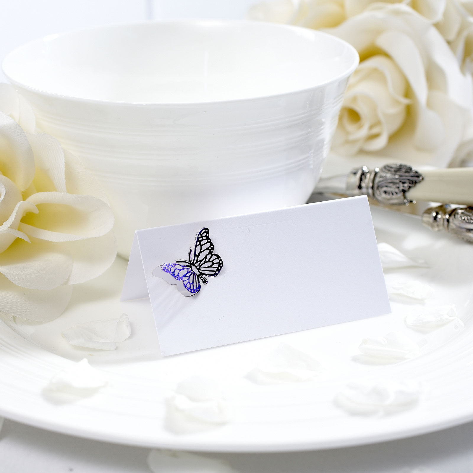 Lasercut Butterfly Decorated Place Card Pack