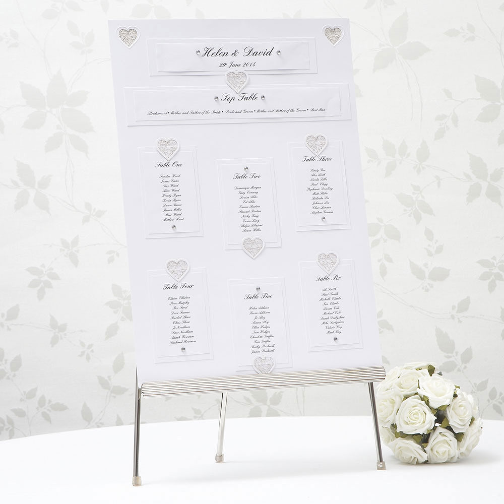 White Grace Table Planner Kit - A3 Size