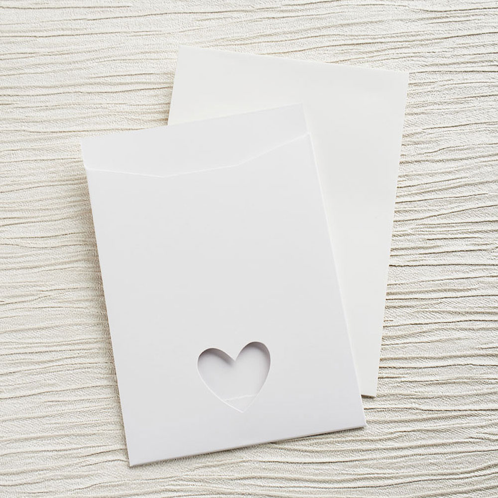 White Eco Chic DIY RSVP/TY/STD/Evening Invitation Kit - 10 Pack