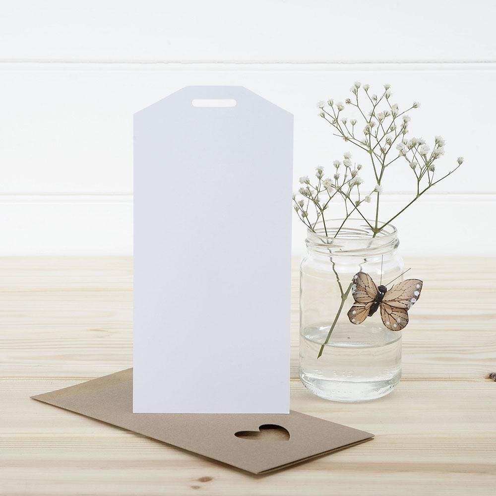 White Eco Chic Plain Large Insert Tag - 10 Pack