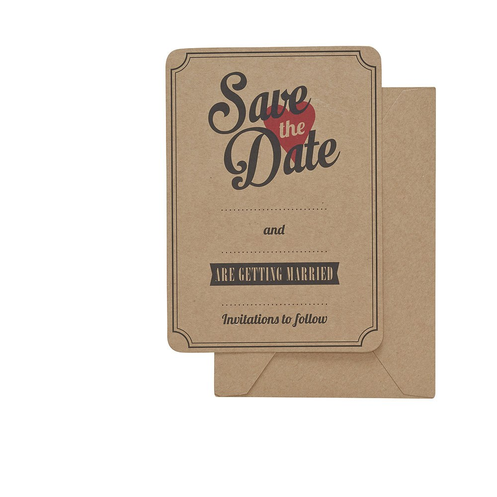 Vintage Affair   Save the Date Cards   10 Pack