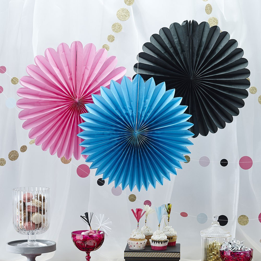 Confetti Party   Wall Fan Decorations   3 Pack