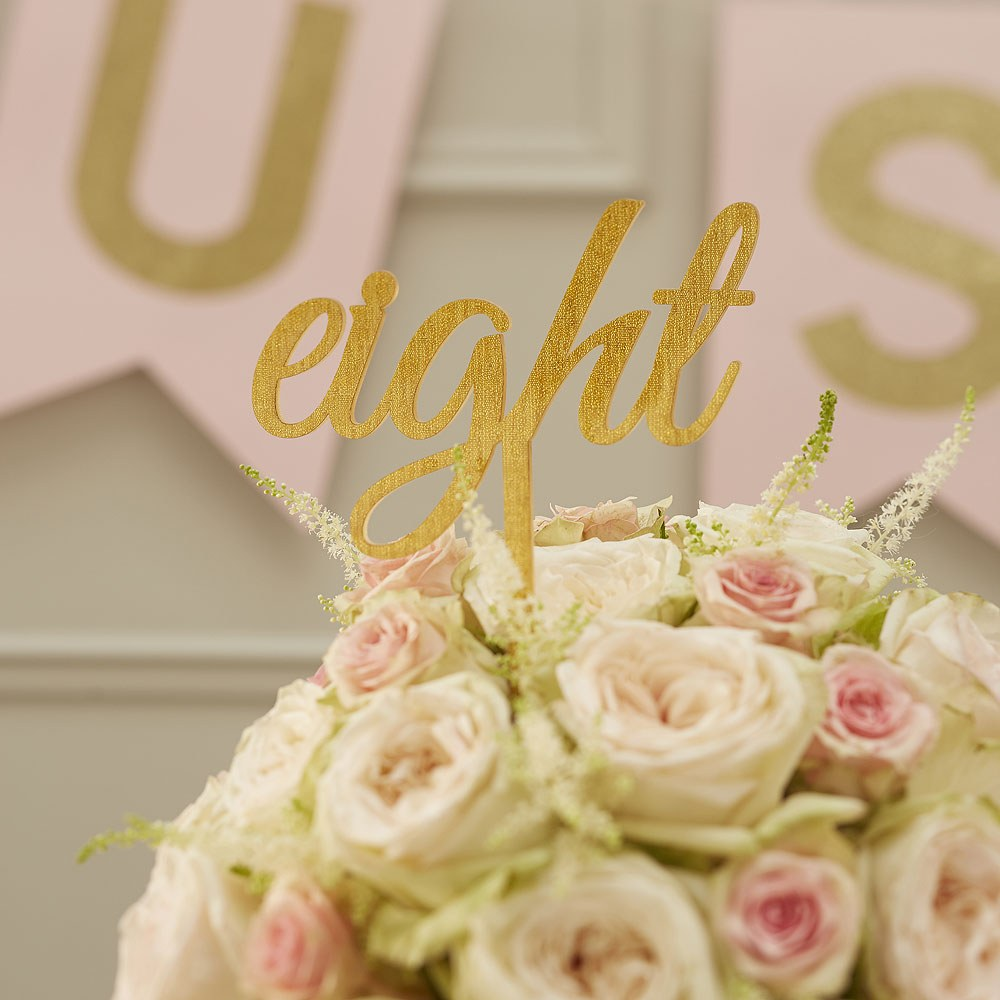 Acrylic Gold Table Numbers   Word Style