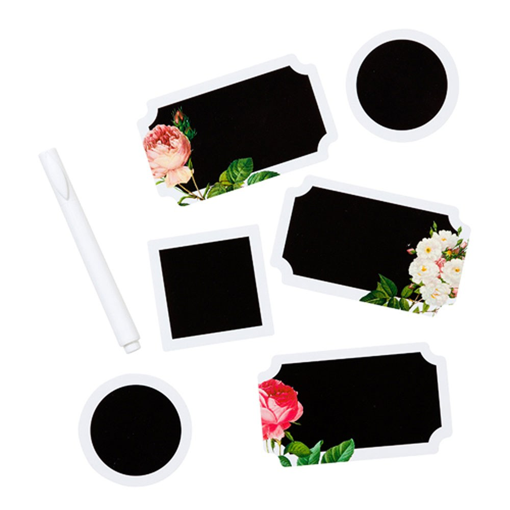 DIY Floral Chalkboard Sticker Set