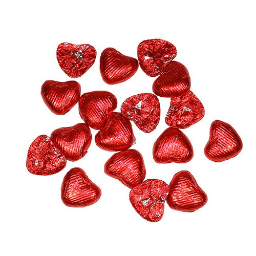 Foil Wrapped Heart Shaped Favor Chocolates Pack
