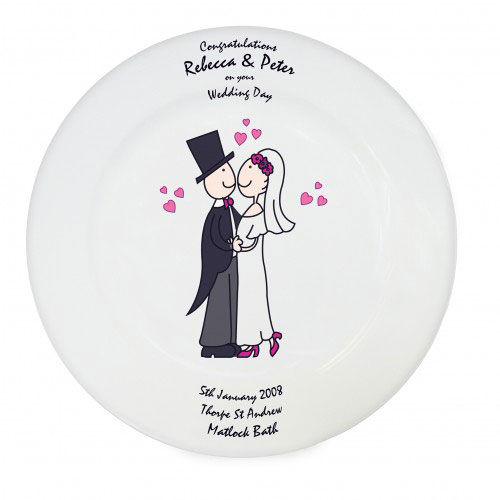 Personalized Wedding Signing Plate