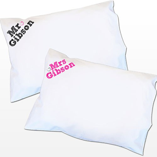 Personalized Mr And Mrs Pillow Set