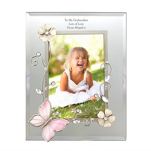 Personalised Butterfly Photo Frame - Confetti.co.uk