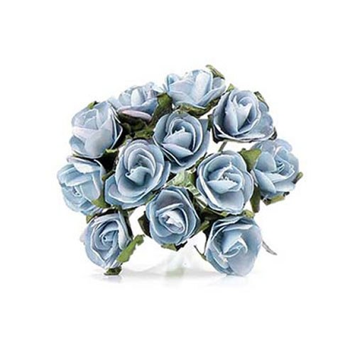 Turquoise Tea Roses - 24 Pack