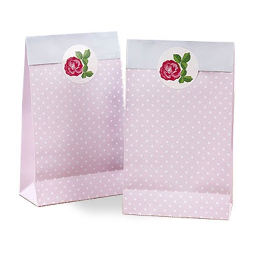 Polka Dot Retro Design Pink Favour Bags