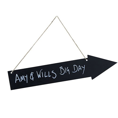 Wooden Chalkboard Arrow