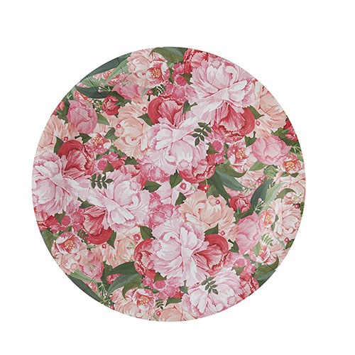 Floral Paper Plates 8 Pack Confetti