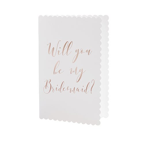 Rose Gold Will You Be My Bridesmaid Cards - 5 Pack