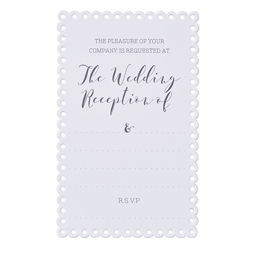 Scalloped Edged Evening Invitations - 10 Pack