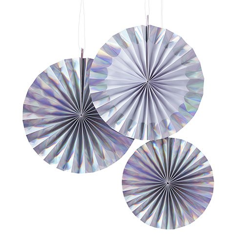 Iridescent Hanging Fan