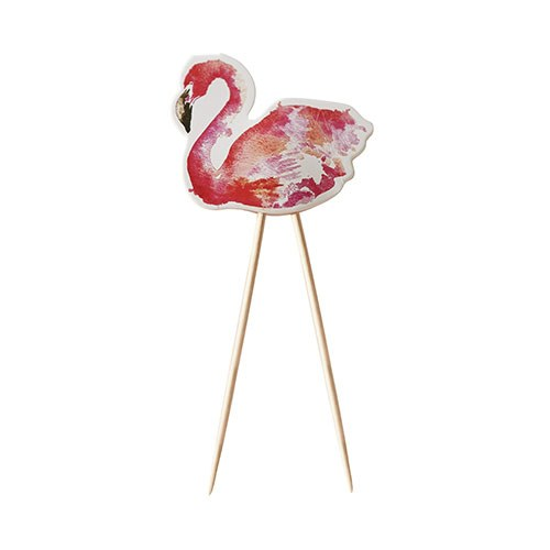 Flamingo Cupcake Food Topper - 8 Pack