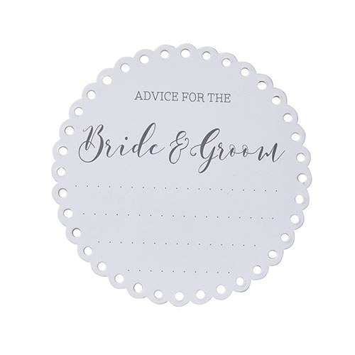 Advice For The Bride & Groom Coasters - 20 Pack