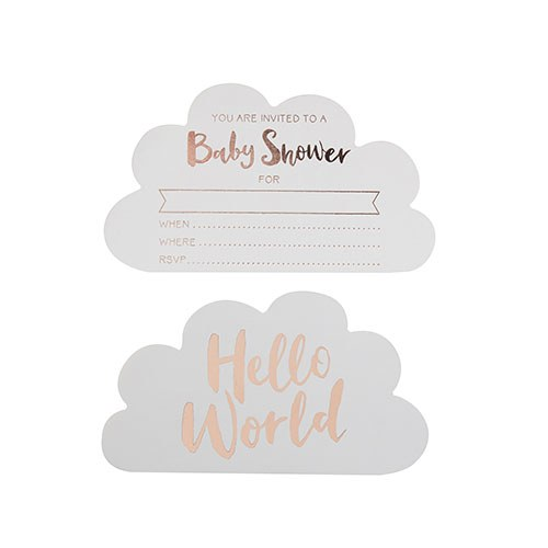 Rose Gold Print Baby Shower Invitations
