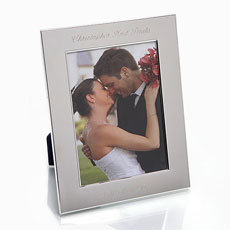 Silver Plate Personalized Photo Frame