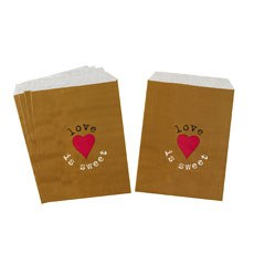 Just My Type Kraft Candy Bar Sweetie Bags - 25 Pack