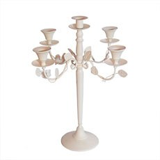 Rose Decorated Ivory Candelabra
